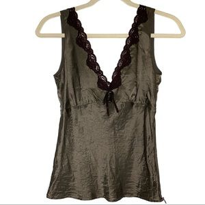 Kenneth Cole sz 0 100% silk and lace camisole